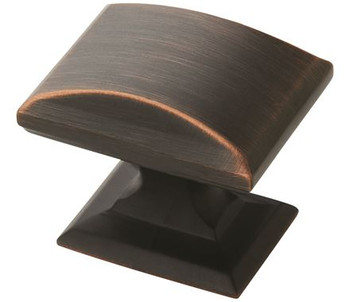 """Amerock, Candler, 1 1/4"""" (32mm) Length Rectangle Knob, Oil Rubbed Bronze"""