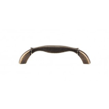 """Top Knobs, Edwardian, Straight, 3 3/4"""" (96mm) Curved Pull, German Bronze"""