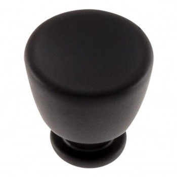 "Atlas Homewares, Conga, 1 1/8"" Round Knob, Matte Black"