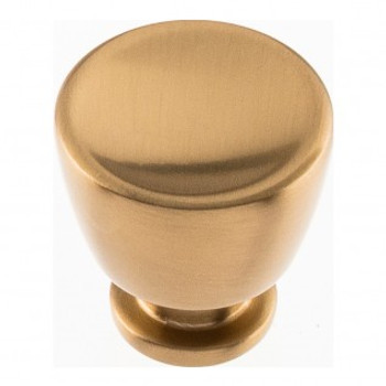 "Atlas Homewares, Conga, 1 1/8"" Round Knob, Warm Brass"