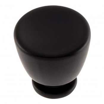 "Atlas Homewares, Conga, 1 1/4"" Round Knob, Matte Black"