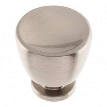 "Atlas Homewares, Conga, 1 1/4"" Round Knob, Brushed Nickel"