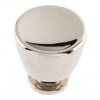 "Atlas Homewares, Conga, 1 1/4"" Round Knob, Polished Nickel"