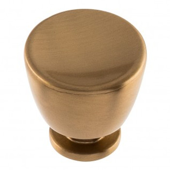 "Atlas Homewares, Conga, 1 1/4"" Round Knob, Warm Brass"