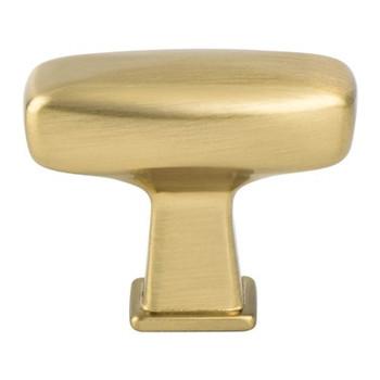 Berenson, Subtle Surge, Rectangle Knob, Modern Brushed Gold