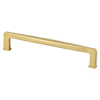 "Berenson, Subtle Surge, 6 5/16"" (160mm) pull, Modern Brushed Gold"