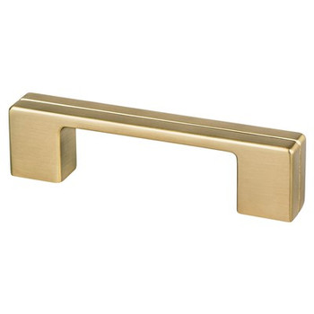 """Berenson, Skyline, 3"""" & 3 3/4"""" (96mm) Pull, Modern Brushed Gold"""