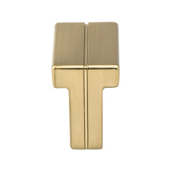 Berenson, Skyline, Rectangle Knob, Modern Brushed Gold
