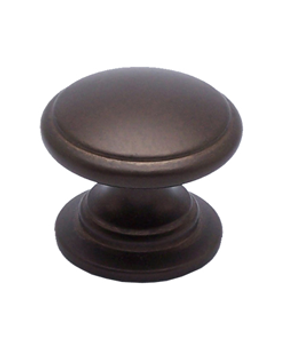 "Berenson, Adagio, 1 3/16"" Round knob with large base, Oil Rubbed Bronze"