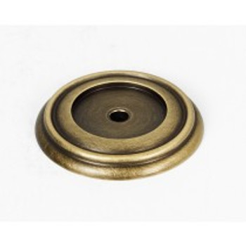 """Alno, Charlie's Collection, 1 1/2"""" Knob Backplate, Antique English Matte"""