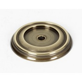 """Alno, Charlie's Collection, 1 1/2"""" Knob Backplate, Polished Antique"""