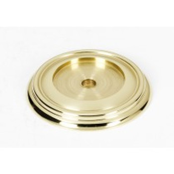 "Alno, Charlie's Collection, 1 1/2"" Knob Backplate, Polished Brass"