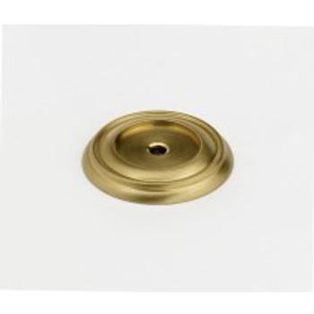 "Alno, Charlie's Collection, 1 1/2"" Knob Backplate, Satin Brass"