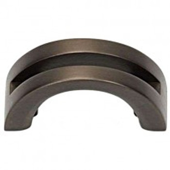 "Alno, Slit Top, 1 1/2"" Curved Pull, Chocolate Bronze"