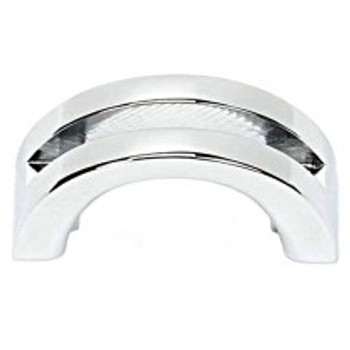 "Alno, Slit Top, 1 1/2"" Curved Pull, Polished Chrome"