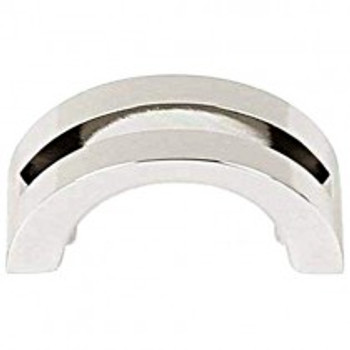"Alno, Slit Top, 1 1/2"" Curved Pull, Polished Nickel"