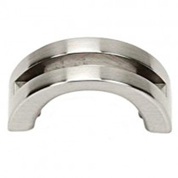 "Alno, Slit Top, 1 1/2"" Curved Pull, Satin Nickel"