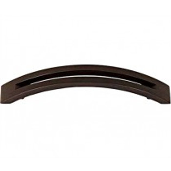 "Alno, Slit Top, 4"" Curved Pull, Chocolate Bronze"