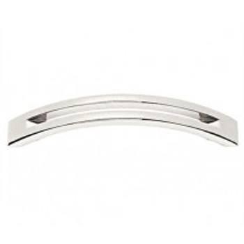 "Alno, Slit Top, 4"" Curved Pull, Polished Chrome"