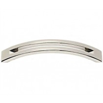 "Alno, Slit Top, 4"" Curved Pull, Polished Nickel"