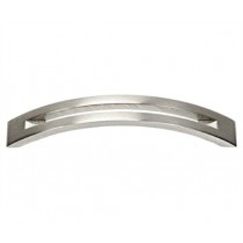 "Alno, Slit Top, 4"" Curved Pull, Satin Nickel"