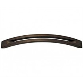"""Alno, Slit Top, 6"""" Curved pull, Chocolate Bronze"""