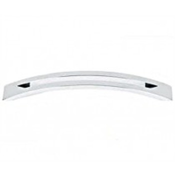 "Alno, Slit Top, 6"" Curved Pull, Polished Chrome"