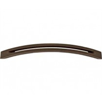 """Alno, Slit Top, 8"""" Curved pull, Chocolate Bronze"""