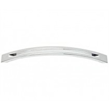 "Alno, Slit Top, 8"" Curved Pull, Polished Chrome"