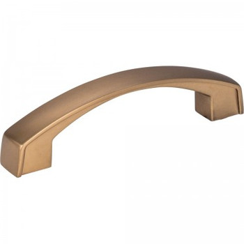 "Jeffrey Alexander, Merrick, 3 3/4"" (96mm) Curved pull, Satin Bronze"