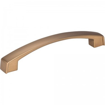 "Jeffrey Alexander, Merrick, 5 1/16"" (128mm) Curved pull, Satin Bronze"