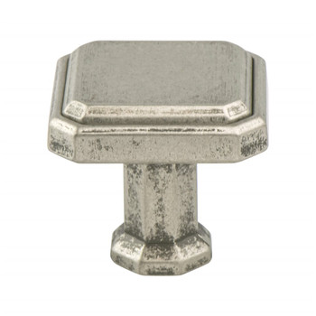 "Berenson, Harmony, 1 3/16"" Square Knob, Weathered Nickel"