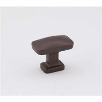 "Alno, Cloud, 1 1/4"" Rectangle Knob, Chocolate Bronze"