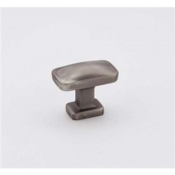 """Alno, Cloud, 1 1/4"""" Rectangle Knob, Pewter"""