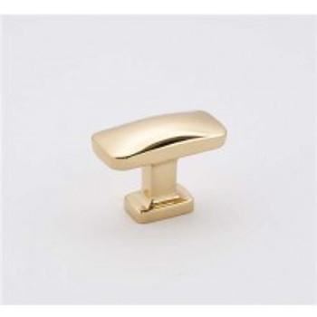 "Alno, Cloud, 1 1/2"" Rectangle Knob, Polished Brass"