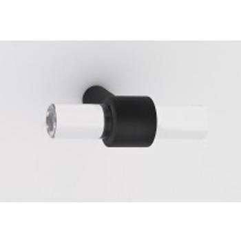 """Alno, Acrylic Contemporary, 1 3/4"""" Pull knob, Matte Black"""