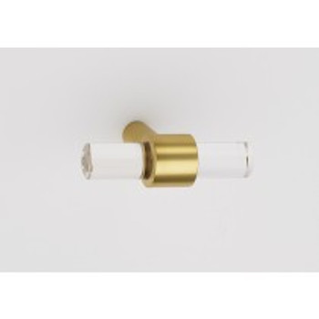 "Alno, Acrylic Contemporary, 1 3/4"" Pull Knob, Polished Brass"