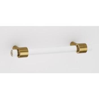 "Alno, Acrylic Contemporary, 3 1/2"" Bar Pull, Satin Brass"