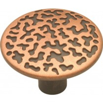 """Belwith Hickory, Southwest Lodge, 1 1/16"""" Round knob, Antique Copper"""
