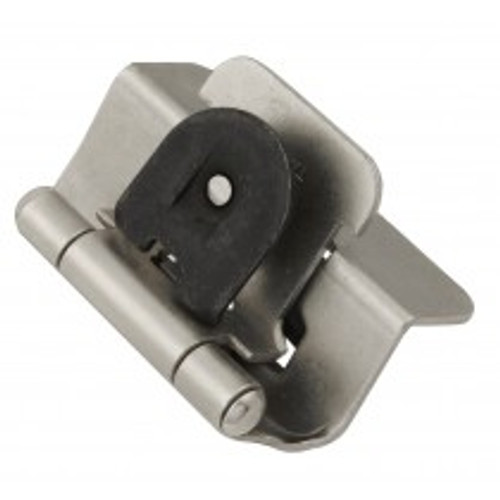 "Belwith Hickory, Hinge, Double Demountable, 1/2"" Overlay, Satin Nickel"