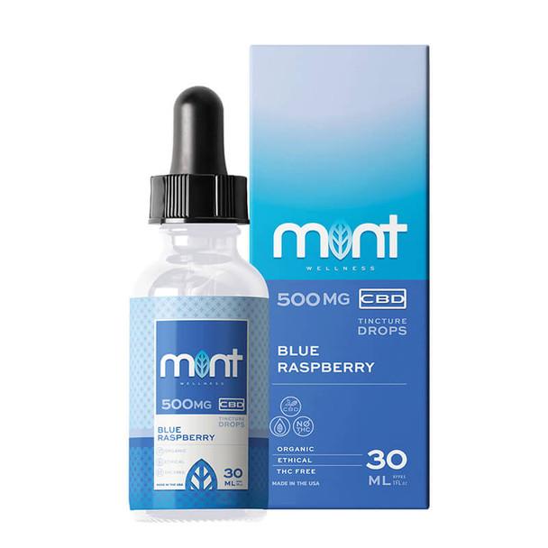 Mint Wellness - CBD Tinture - Blue Raspberry - 500mg-1000mg