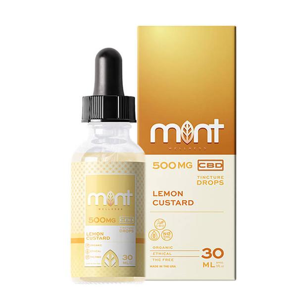 Mint Wellness - CBD Tincture - Lemon Custard - 500mg-1000mg