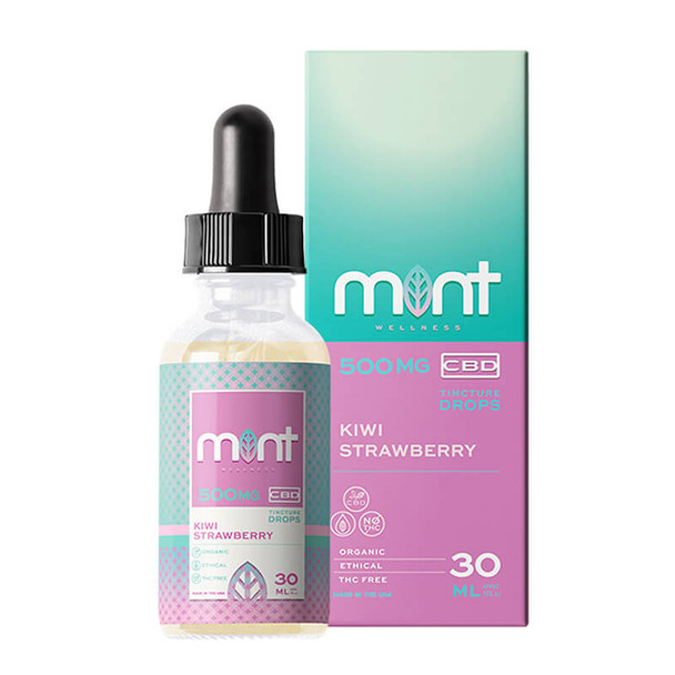 Mint Wellness - CBD Tincture - Kiwi Strawberry - 500mg-1500mg
