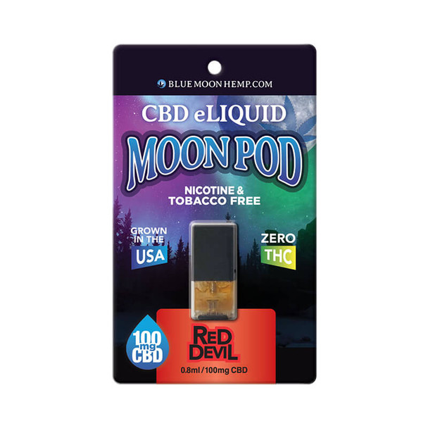 Blue Moon Hemp - CBD Pod - Red Devil Moon Pod - 100mg