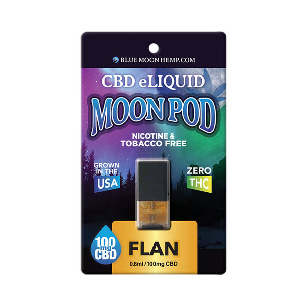 Blue Moon Hemp - CBD Pod - Flan Moon Pod - 100mg