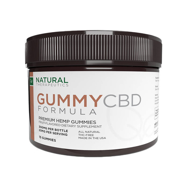 Natural Therapeutics - CBD Edible - Gummies 15 Count - 20mg