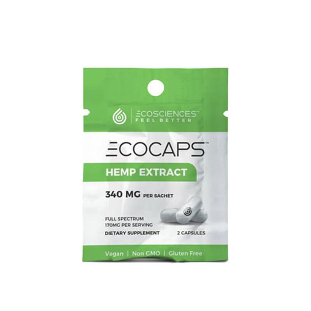 Eco Sciences - CBD Capsule - ECOCAPS Travel Size 2 Count - 340mg