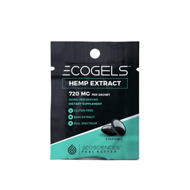 Eco Sciences - CBD Soft Gel - ECOGELS Travel Size 2 Count - 25mg