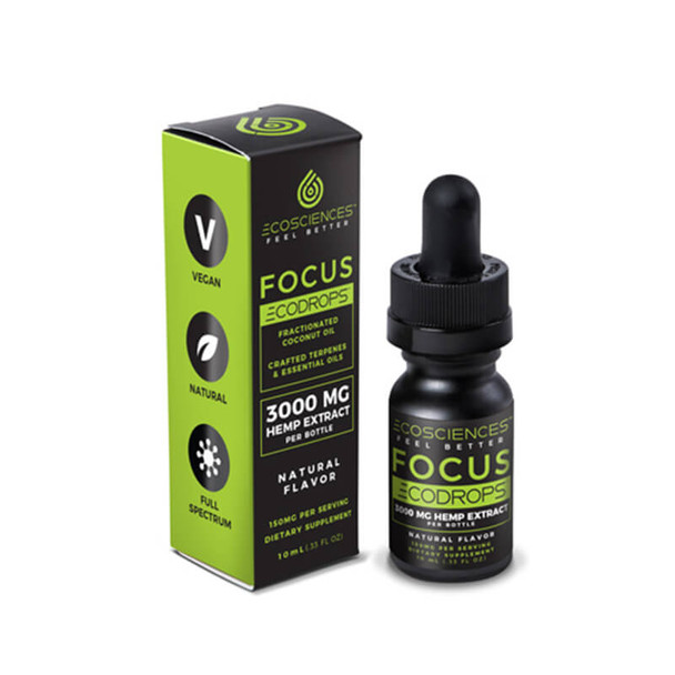 Eco Sciences - CBD Tincture - ECODROPS Focus 10ml - 500mg