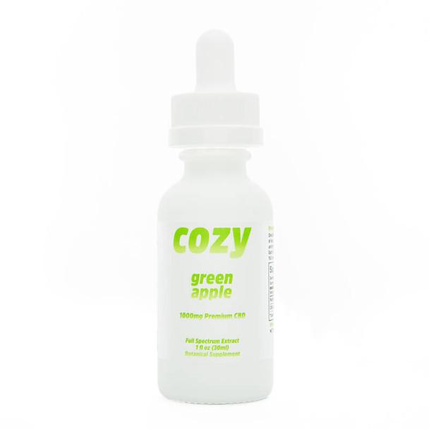 Cozy - CBD Tincture - Green Apple - 1000mg